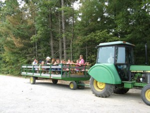Guided wagon ride