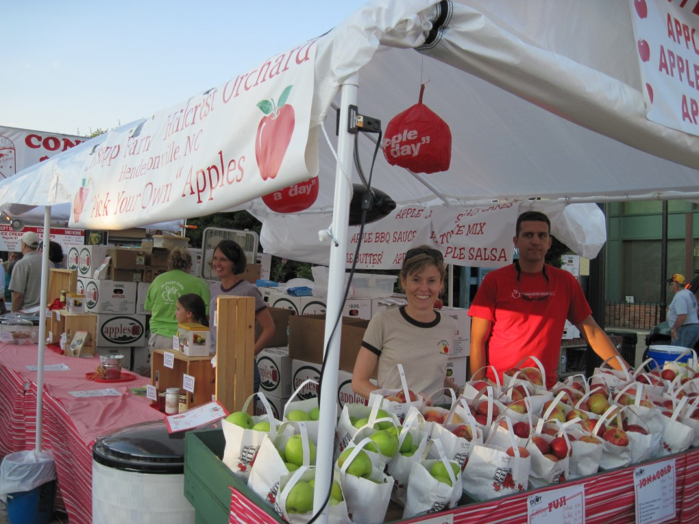 NC Apple Festival Booth